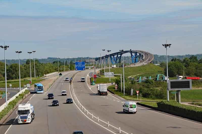 Bild 3 Brücke über die Seine bei Honfleur in der Normandie