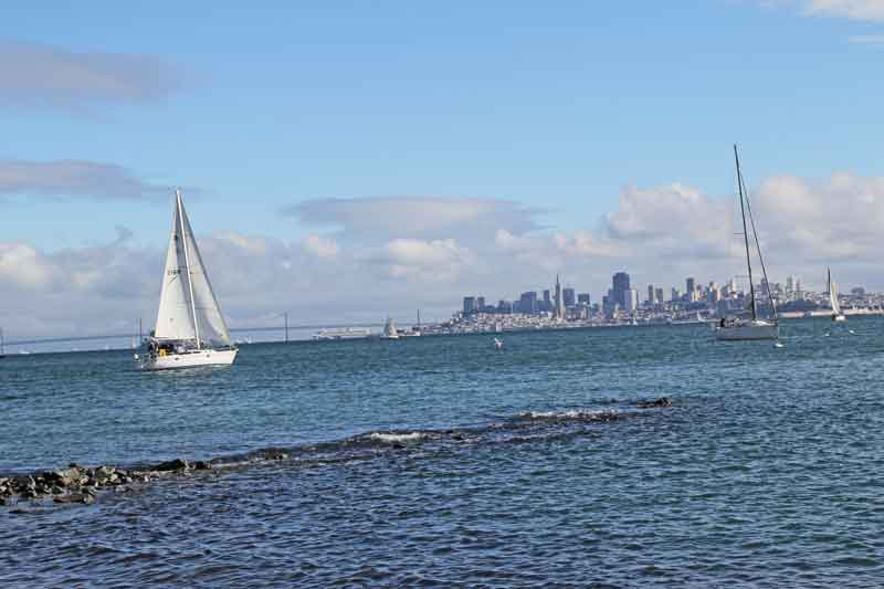 Bild 43 An der Promenade in Sausalito, Blick auf San Francisco