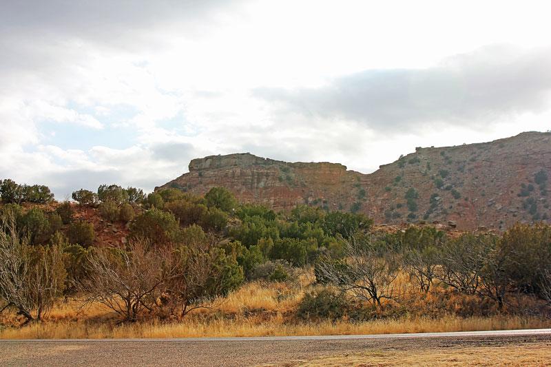 Bild 23 Blick von unserem Standplatz auf den Canyon