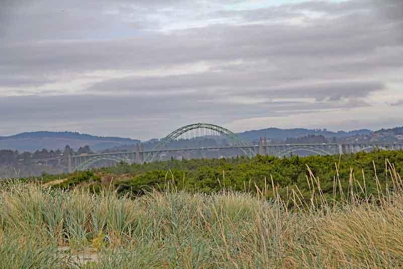 Bild 21 Blick auf die Brücke bei Newport vom Strand am South Beach CG