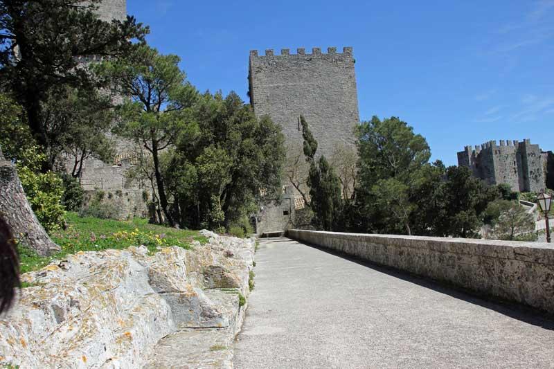Blick auf die Burg von Erice