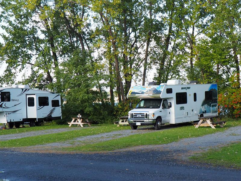 Bild 2 Morgens auf dem Campground