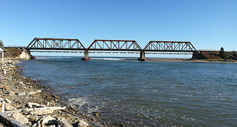 Bild 1 Brücke unterwegs nach Perce