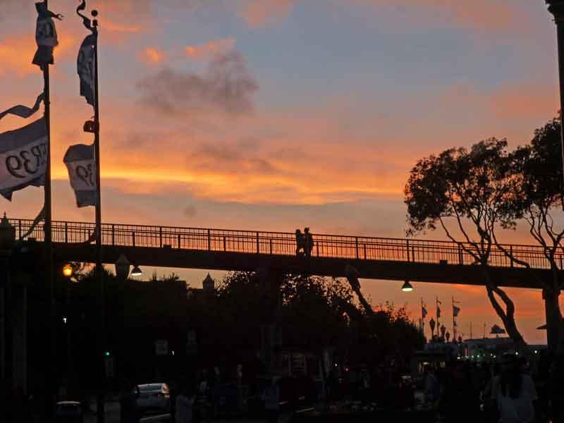Bild 26 Sonnenuntergang an der Fisherman Wharf in San Francisco