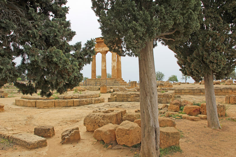 Tempelanlage von Agrigento in Sizilien