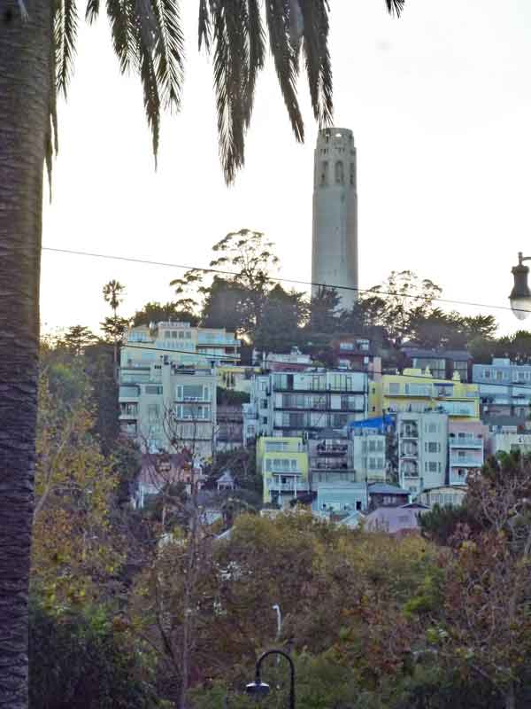 Bild 23 Blick auf den Coit Tower auf dem Telegraph Hill in San Francisco