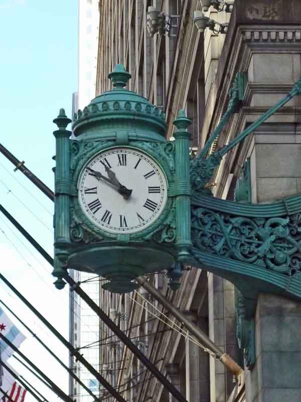 Bild 3 Alte Uhren in den Straßen vob Chicago