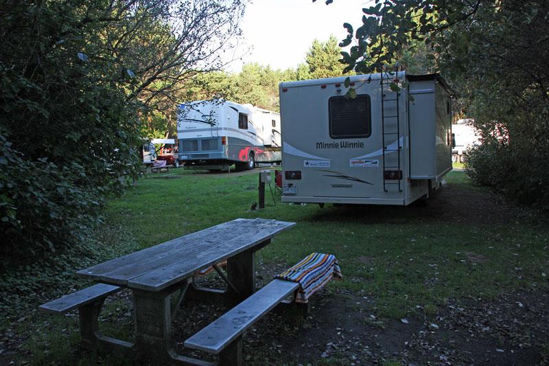 Bild 14 Unser Stellplatz auf dem Ocean City Campground
