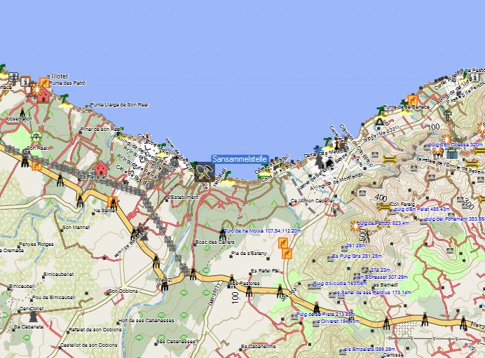 Bild 1 Sandsammelstelle Mallorca Strand Nähe Alcudia  - Kartenquelle: © OpenStreetMap-Mitwirkende