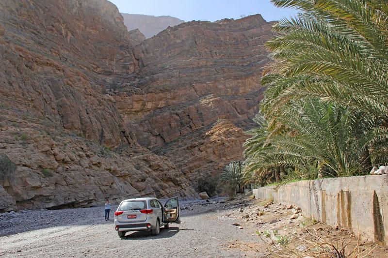 Bild 11 Am Ende des Wadis Pause in einen kleinen Seitenarm