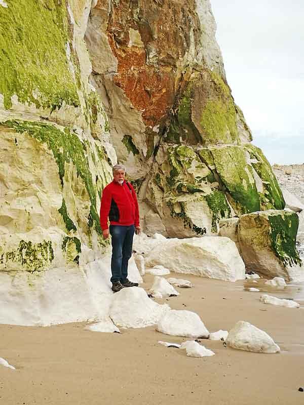 """Bild 17 An der Steilküste von """"Le Treport"""""""