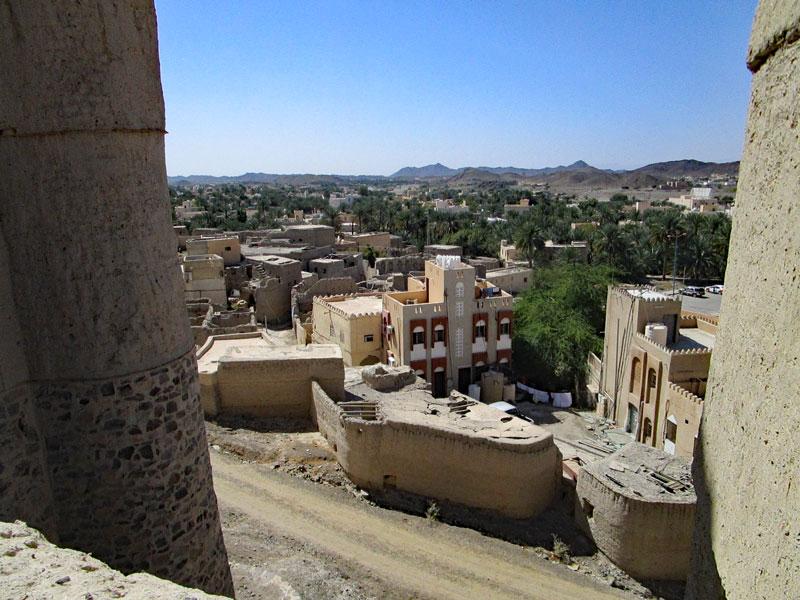 """Bild 10 Blick auf die Stadt Bahla aus der Festung """"Hisn Tamah"""""""