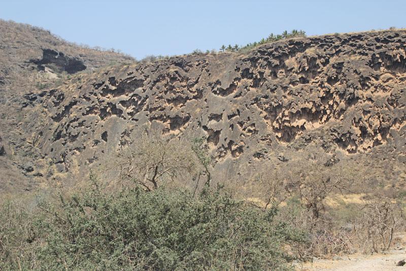 Bild 7 Im unteren nicht erschlossenen Teil des Wadi Darbat
