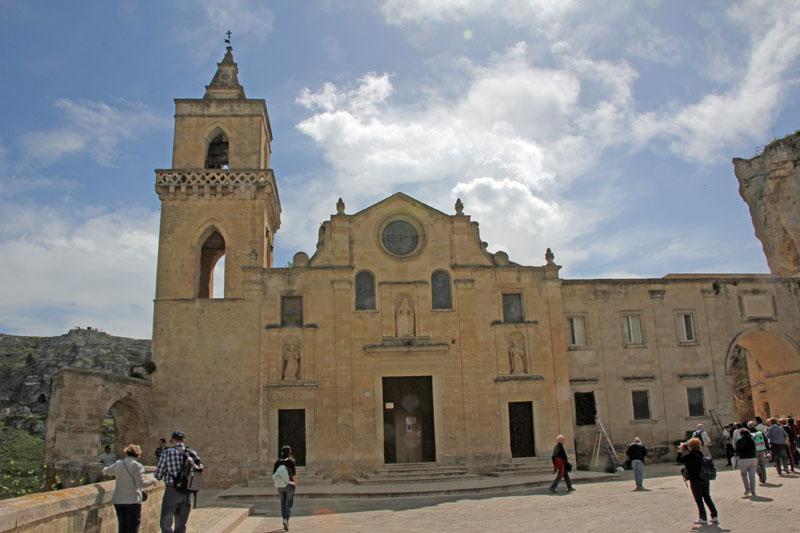 Matera alter Teil, an der alten Kirche