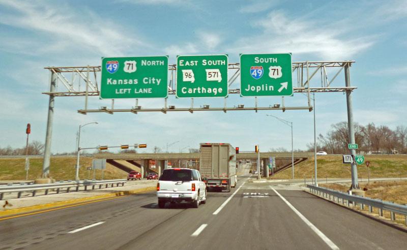 Bild 2 Auf dem Weg nach Carthage, einer Kleinstadt in Missouri
