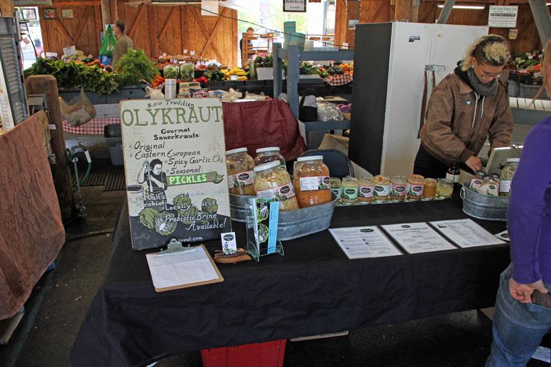 Bild 2 Farmers Market in Olympia mit vielen regionalen Produkten