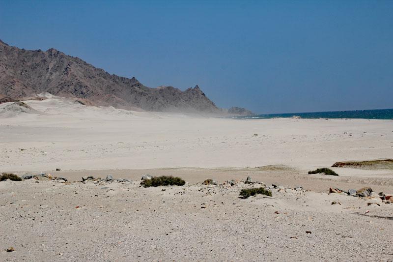 Bild 17 Blick auf den Sand und die dahinterliegende Küste