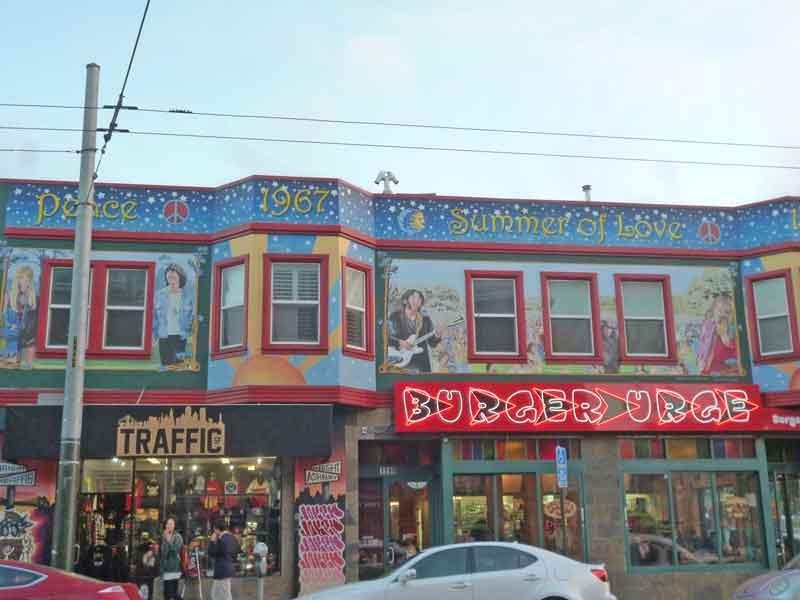 Bild 72 Läden in der Haight Street