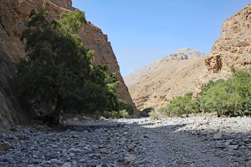 Bild 10 Am Ende des Wadis Blick in einen kleinen Seitenarm