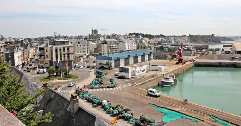 Bild 17 Blick auf den Hafen von Granville