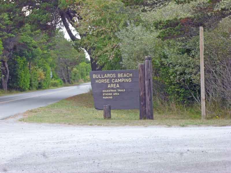Bild 3 Ausfahrt aus dem Campground