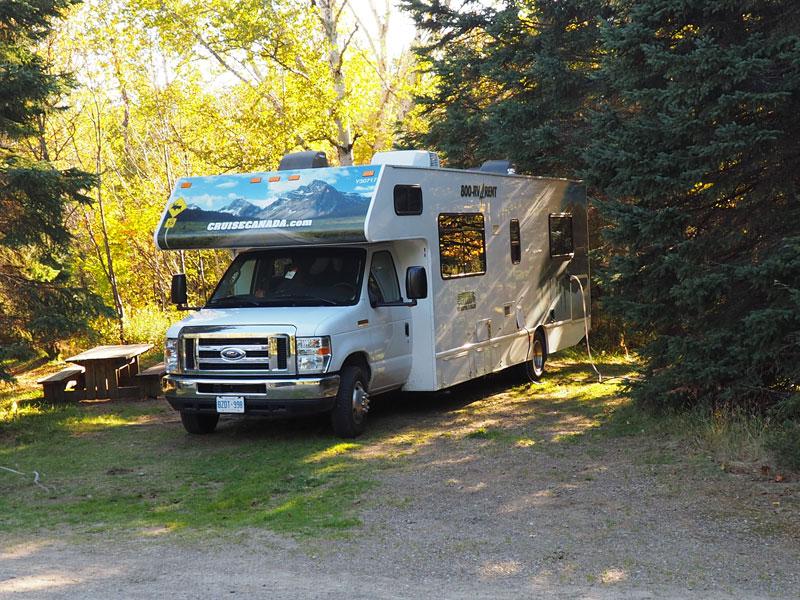 Bild 11 Unser Platz auf dem Campground