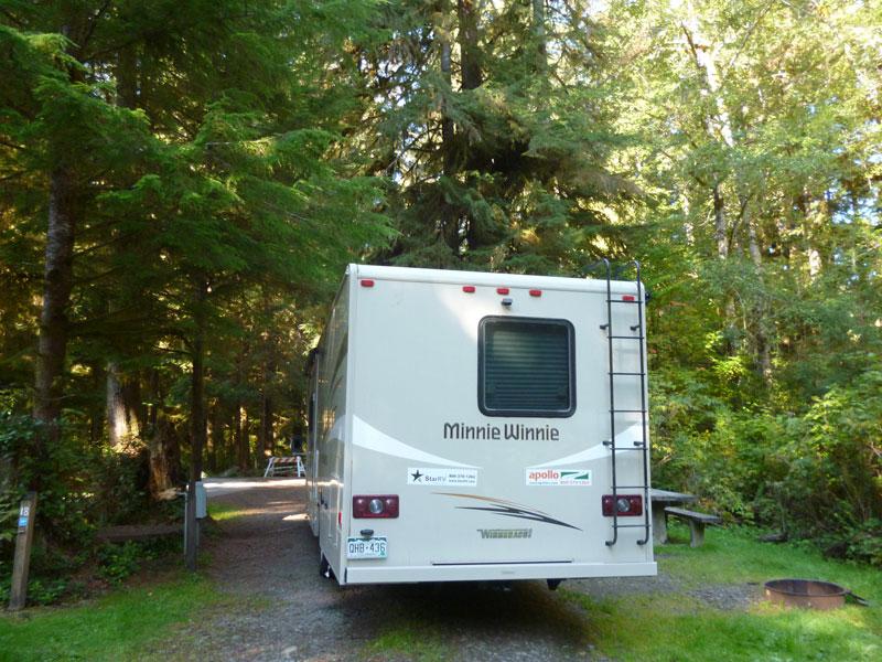 Bild 28 Auf dem Bogachiel Campground