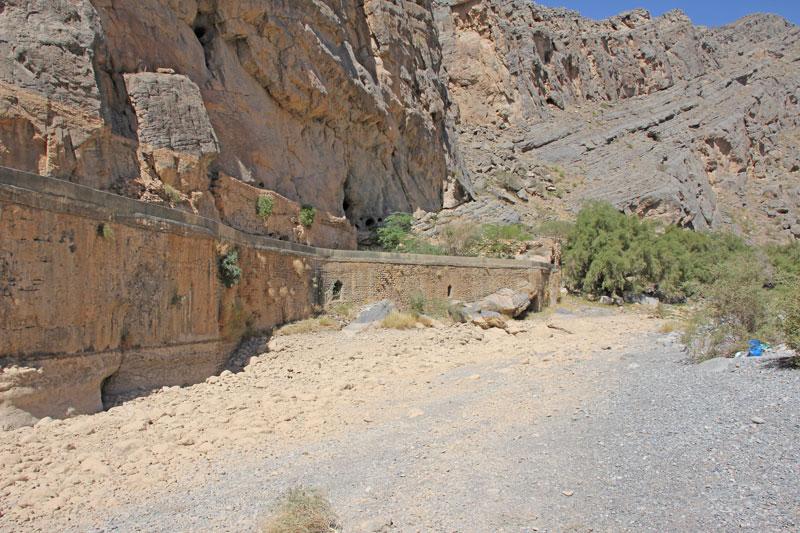Bild 28 Einfahrt zum Wadi Tanuf