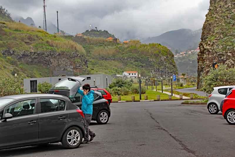 Bild 23 Auf dem Parkplatz bei Sao Vicente