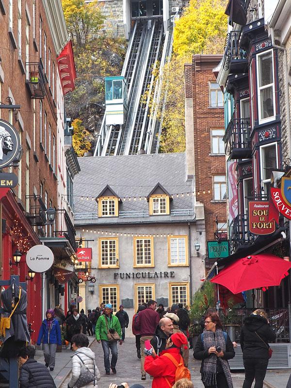 Bild 21 Blick auf den Funiculaire von Quebec