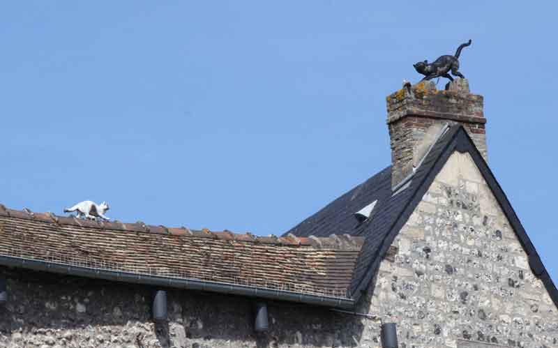 Bild 16 Hausdach neben der Holzkirche St. Catrine in Honfleur.