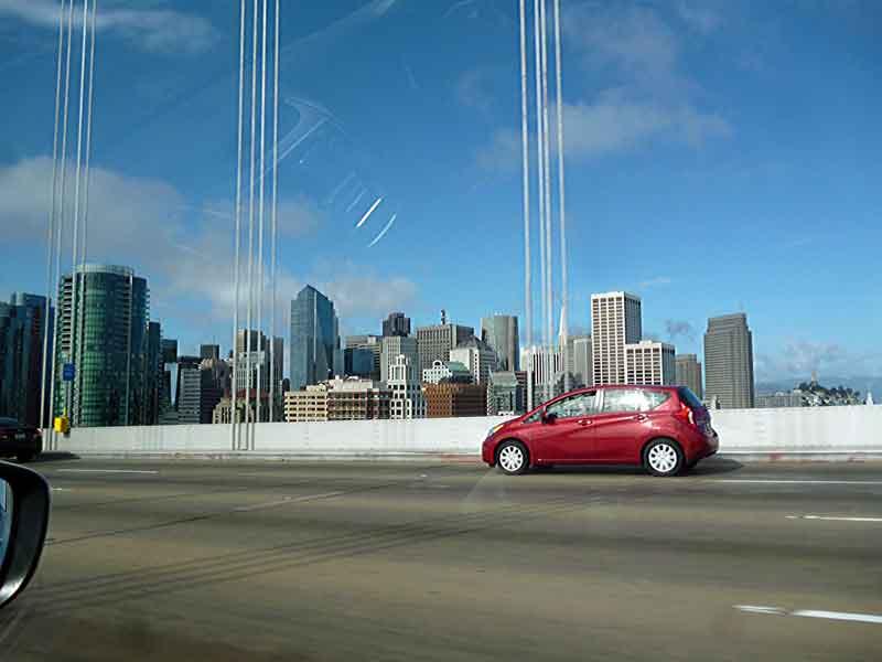 """Bild 5 Über die Bay Bridge geht es nach """"Down town"""" San Francisco"""
