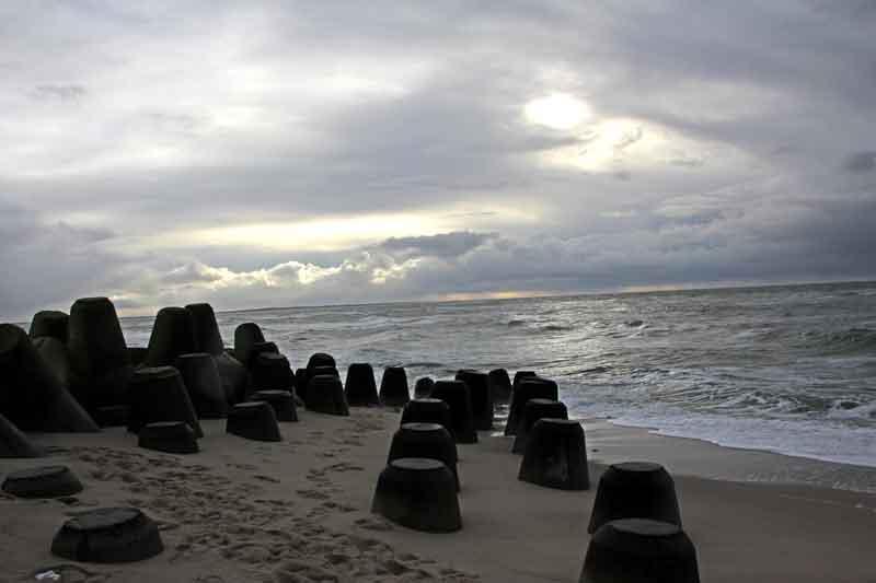 Bild 8 Zwischen den Wellenbrechern an der Südspitze von Sylt