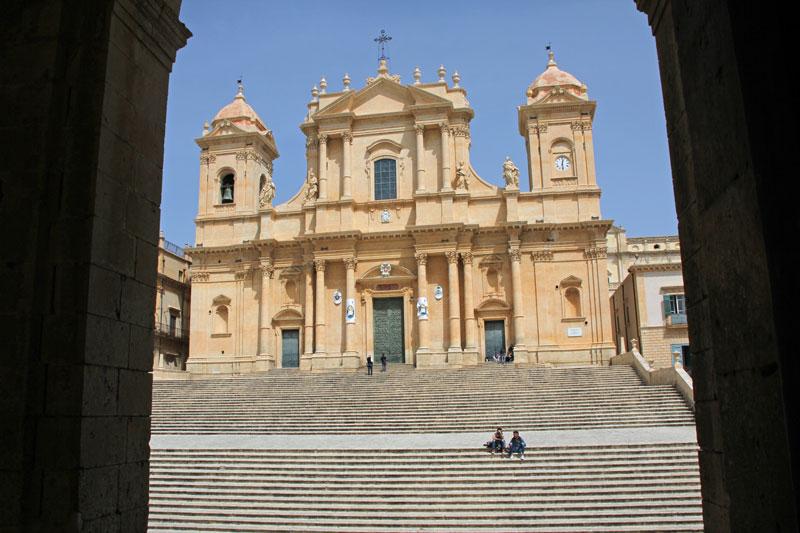 Blick auf die Kathedrale von Noto