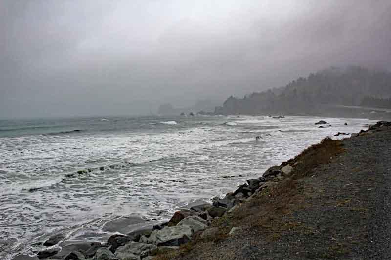 Bild 3 In Kalifornien weiter nach Eureka, leider bei regnerischem Wetter