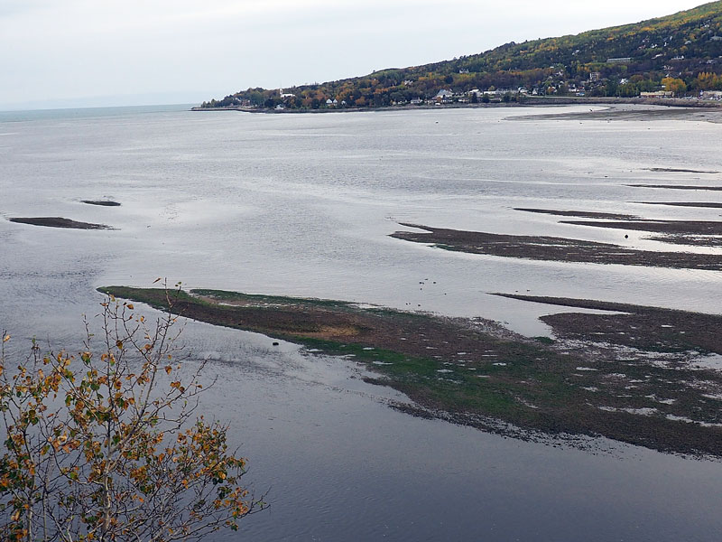 Bild 2 Blick auf die Flussmündung in den St. Lorenz Strom