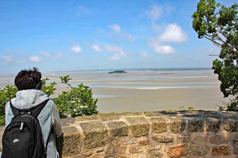 Bild 22 Blick von der Abtei auf das Watt und das Meer