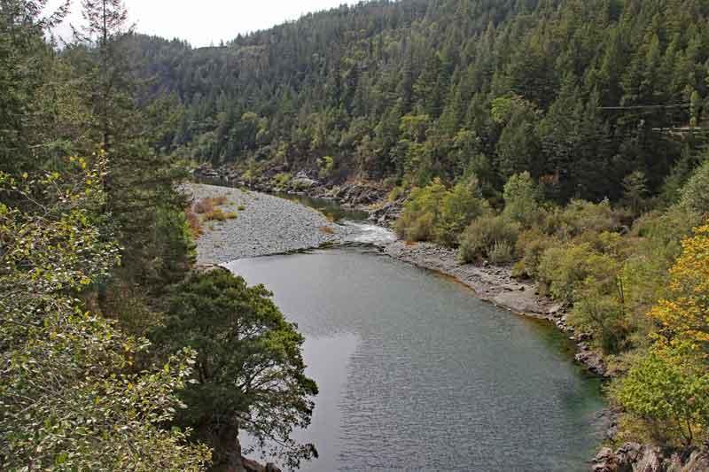 Bild 16 Wanderung parallel zum Smith River in den Redwoods auf dem Hiouchi Trail
