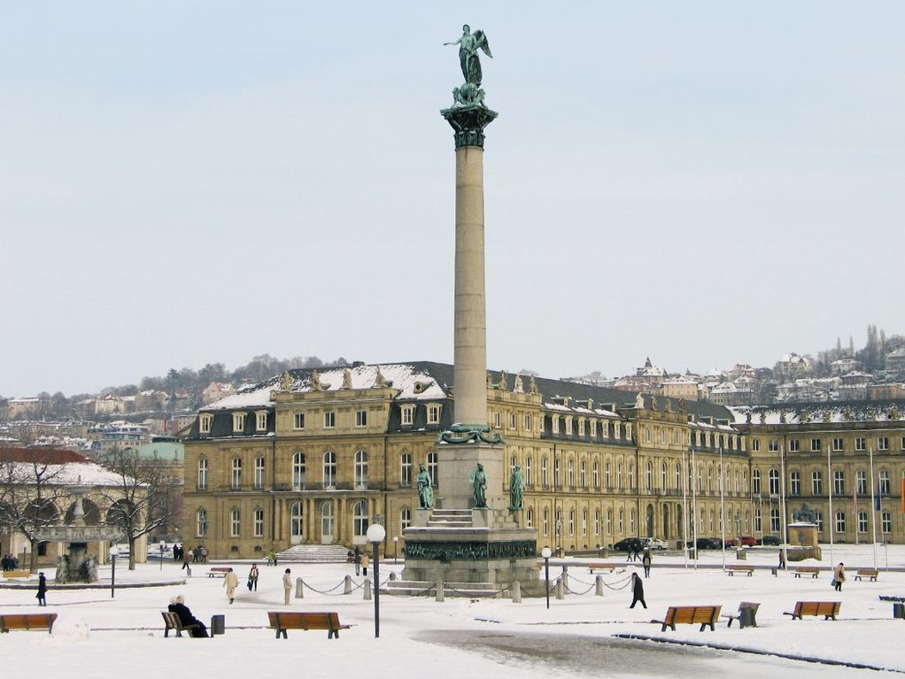 Stuttgarter Schlossplatz im Winter, Foto: Stuttgart Marketing GmbH