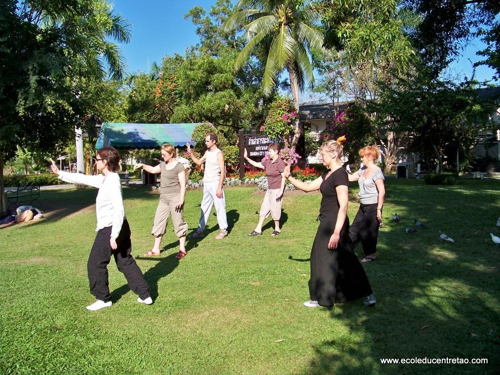 pratique matinale à Chiang Mai