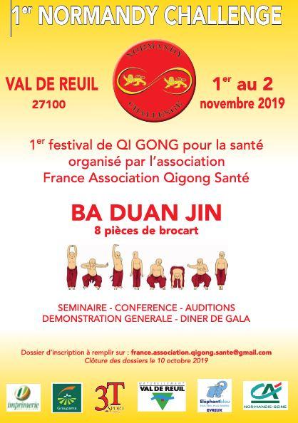 Affiche du stage de qigong de santé à Val de Reuil les 1 et 2 novembre 2019.