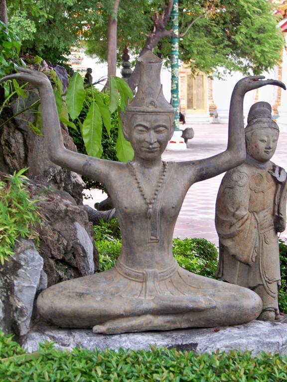 Wat Po Bangkok, statue de yogi (Lusi datong)