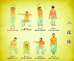 postures traditionnelles du Ba Duan Jin debout