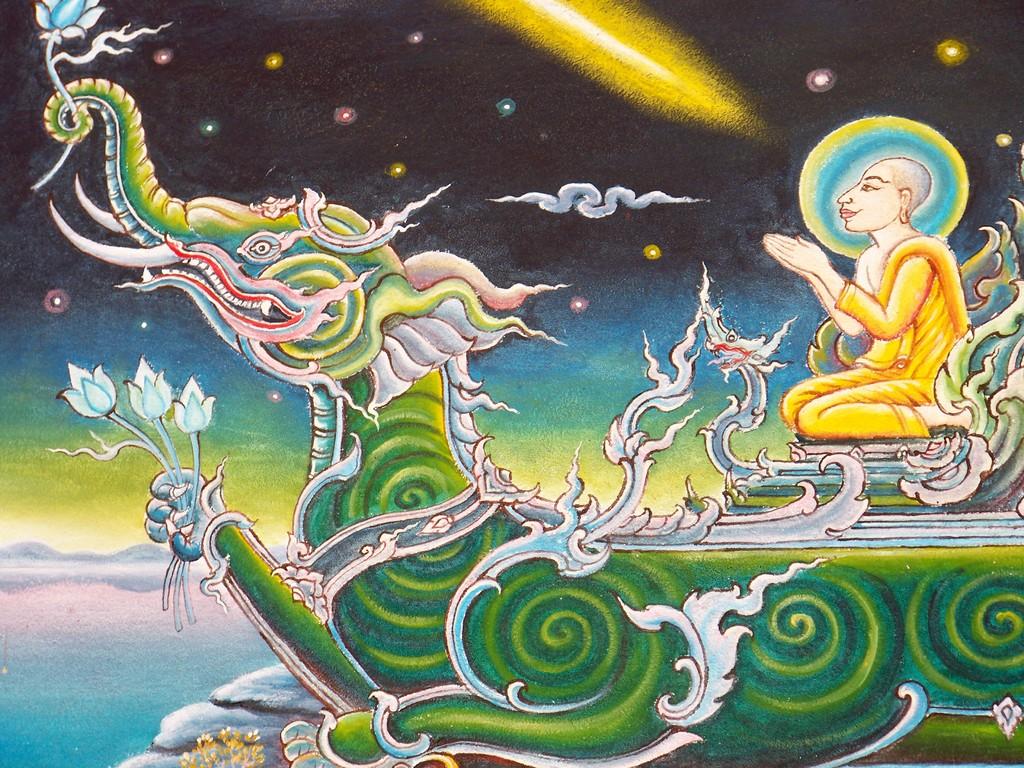 peinture allégorique sur un temple