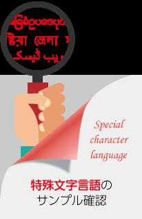 特殊文字言語のサンプル