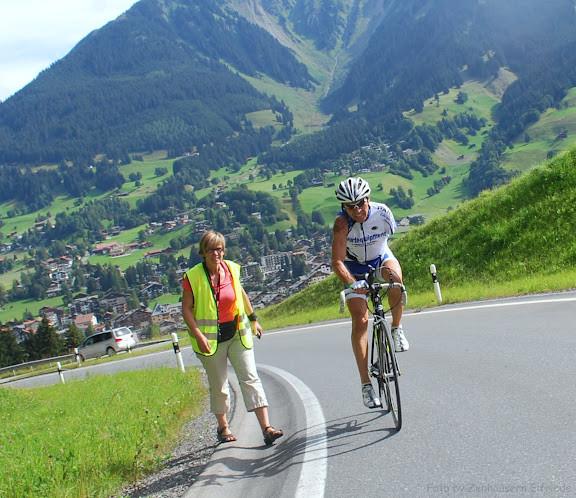 Im steilen Wolfgangpass, Richtung Davos...