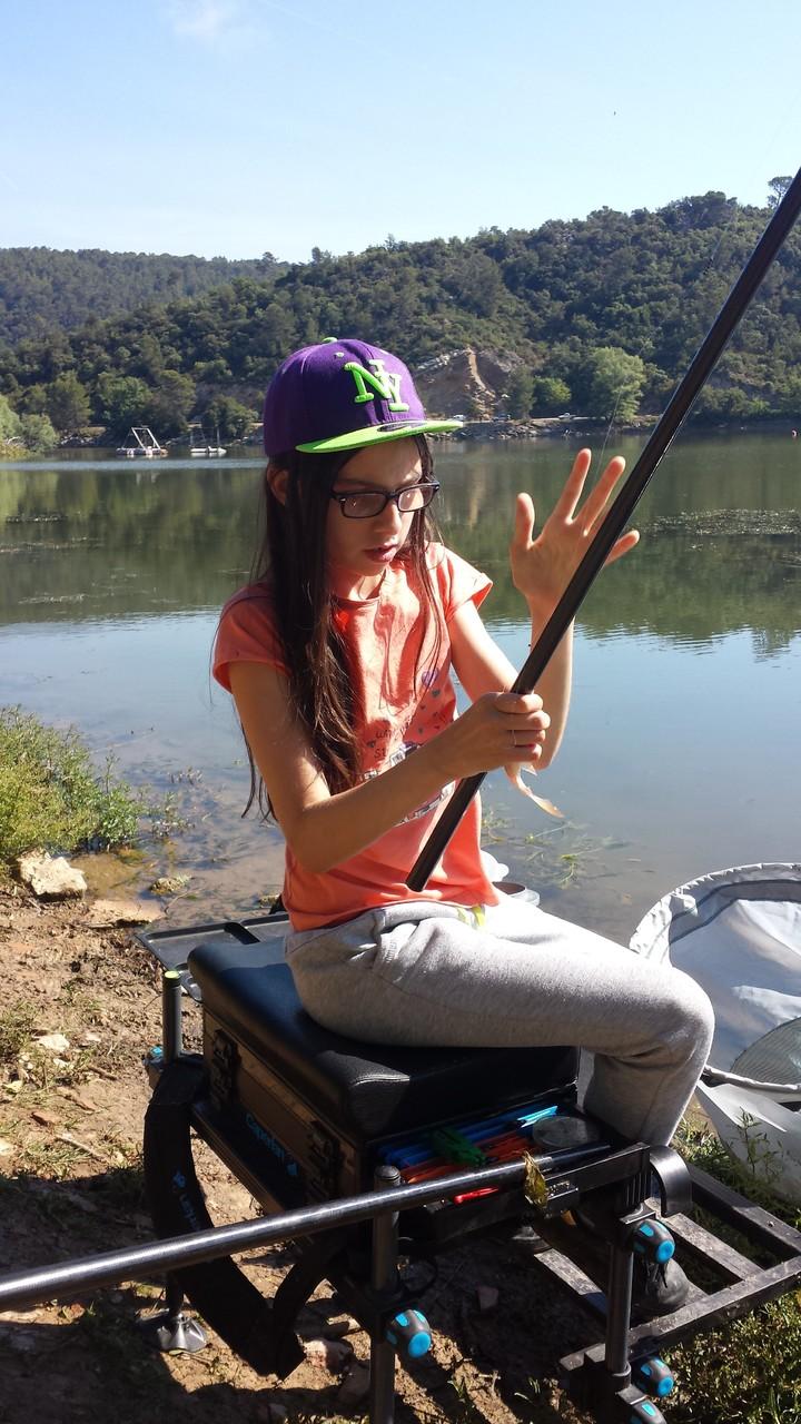 La première pêcheuse du jour !