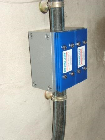 installation anti calcaire médiagon sur une canalisation en PE PER dans une habitation