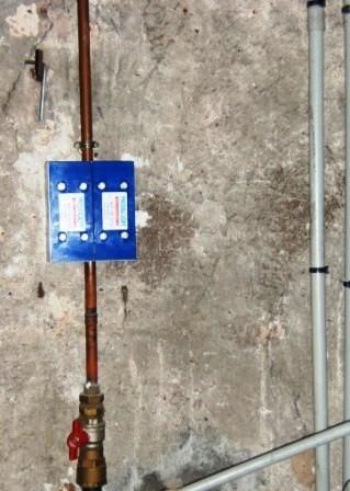 installation anti calcaire médiagon sur une canalisation en CUIVRE dans une habitation