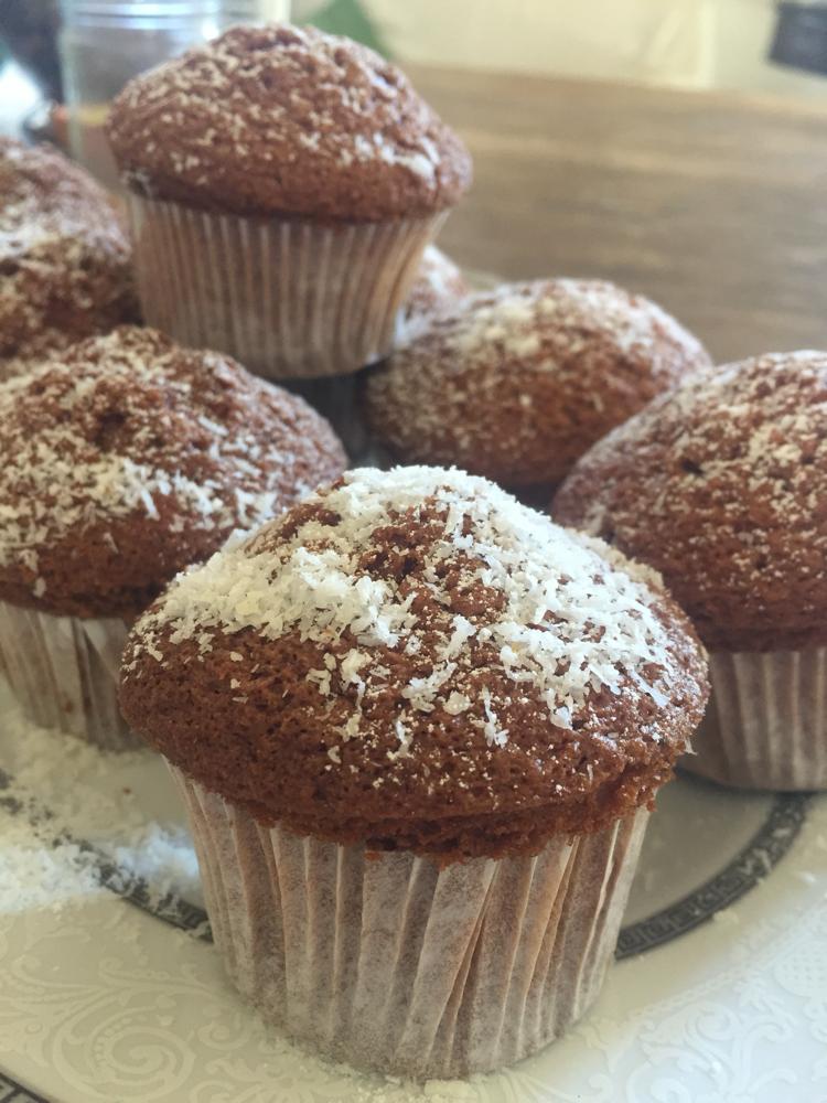Muffin coco e zucchero alla lavanda